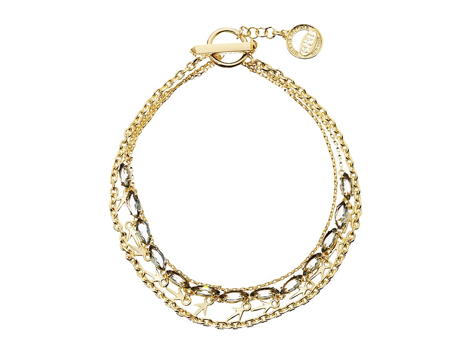 Giles & Brother - Thorn Charm Navette Necklace (Black Diamond Brass/Black Diamond Crystal) Necklace