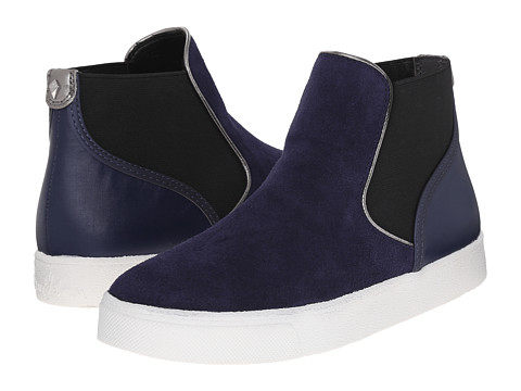 Sam Edelman - Margot (Space Blue Oily Velour Suede Leather/Sport Nylon) Women