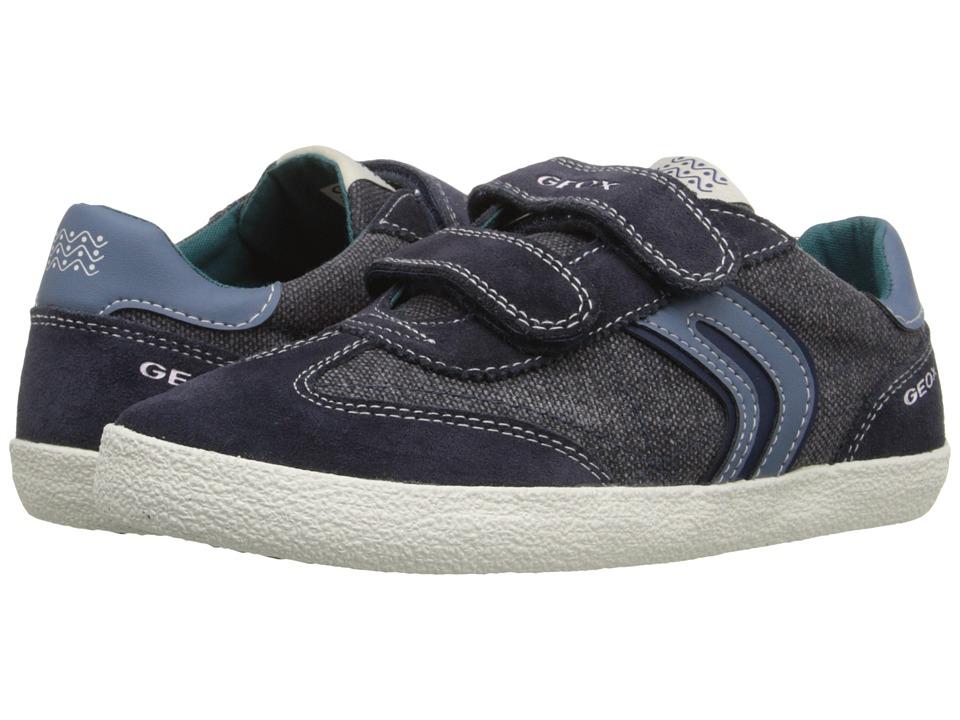 Geox Kids - Jr Kiwiboy 48 (Big Kid) (Navy/Blue) Boy's Shoes