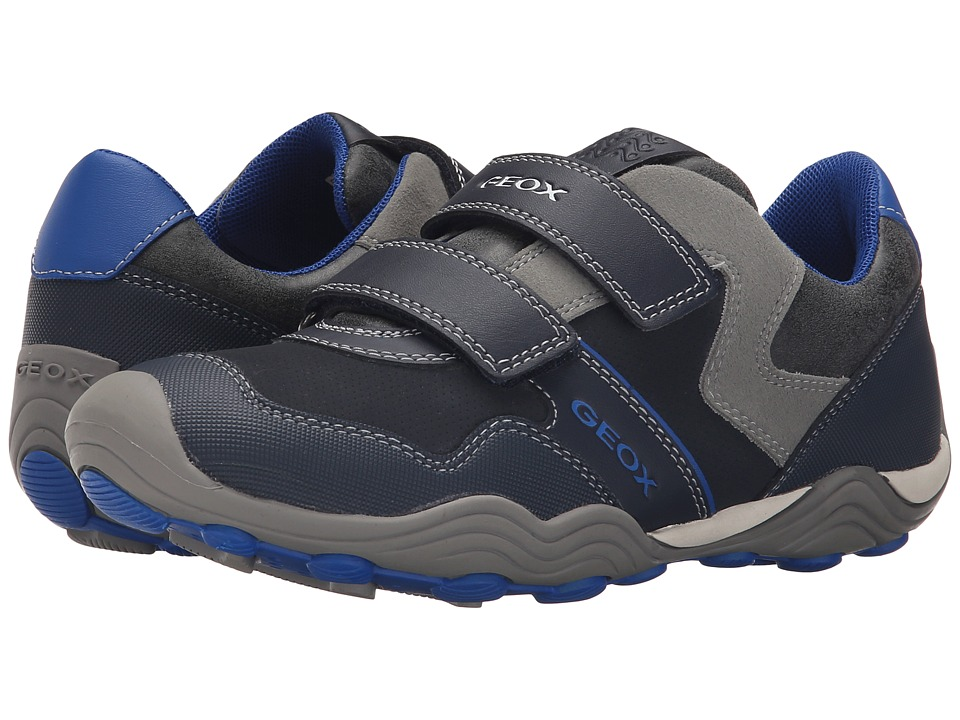 Geox Kids - Jr Arno 13 (Big Kid) (Navy/Royal) Boy's Shoes