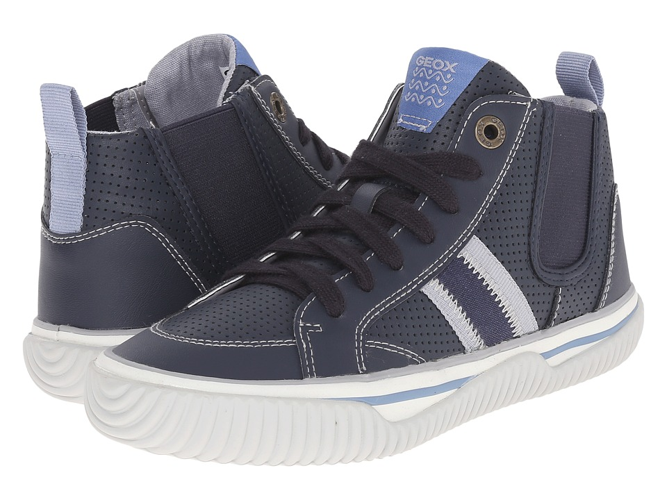 Geox Kids - Jr Australis Boy 1 (Big Kid) (Navy/Grey) Boy's Shoes