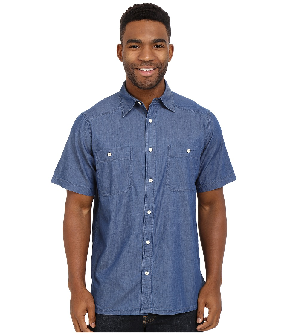 Mountain Khakis - Ace Indigo Short Sleeve Shirt (Dark Indigo) Men's Clothing