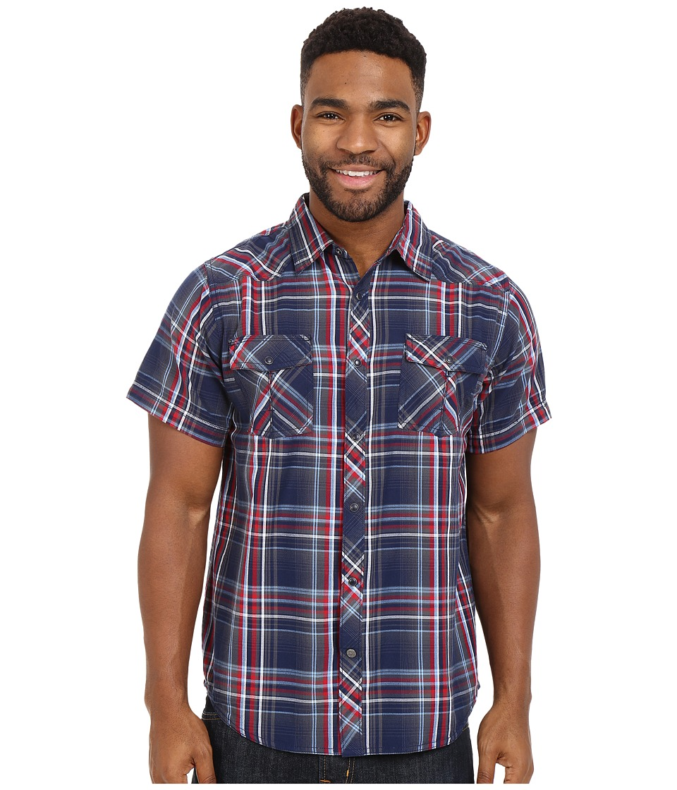 Mountain Khakis - Rodeo Short Sleeve Shirt (Midnight Blue) Men's Clothing