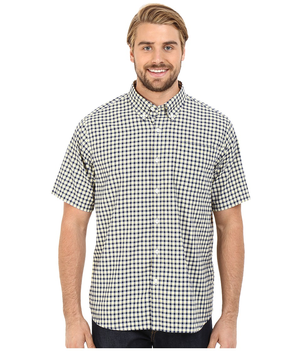 Mountain Khakis - Spalding Gingham Short Sleeve Shirt (Zest) Men's Clothing
