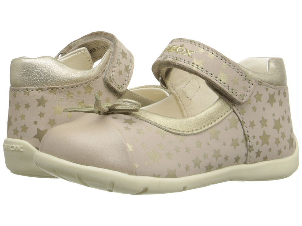 Geox Kids - Baby Kaytan Girl 22 (Infant/Toddler) (Beige/Gold) Girl