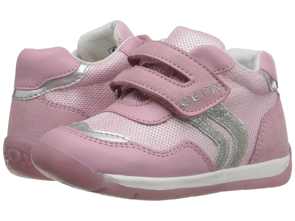 Geox Kids - Baby Each Girl 5 (Infant/Toddler) (Pink/Silver) Girl's Shoes