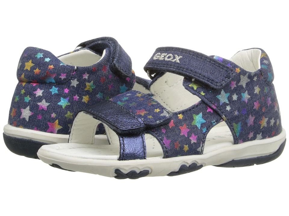 Geox Kids - Baby Nicely 28 (Infant/Toddler) (Navy/Multicolor) Girl's Shoes
