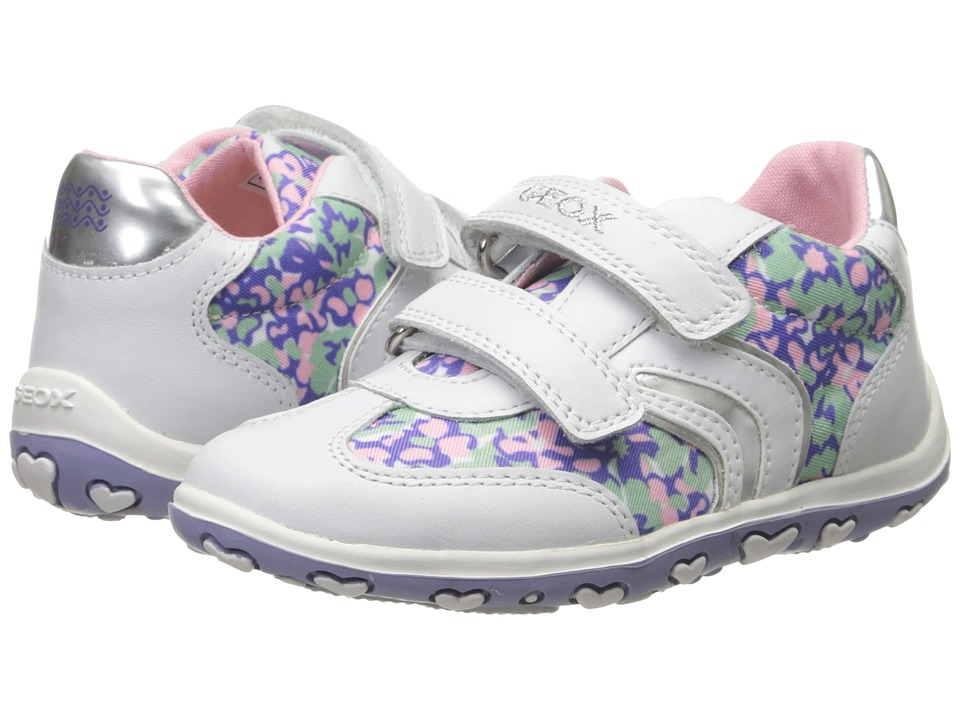 Geox Kids - Baby Bubble 56 (Infant/Toddler) (White/Lilac) Girl