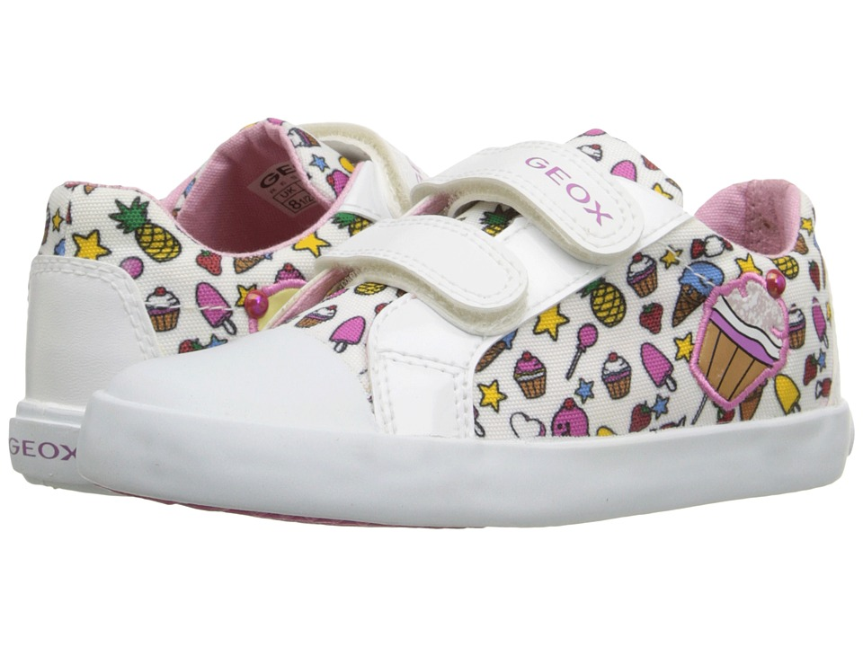 Geox Kids - Baby Kiwi Girl 69 (Toddler) (White/Multicolor) Girl's Shoes