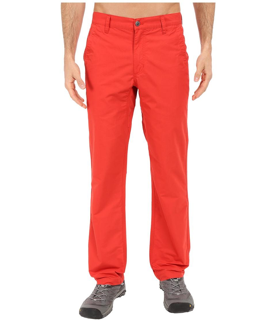 Mountain Khakis Slim Fit Poplin Pant (Tomato) Men