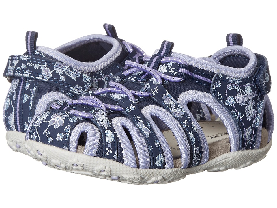Geox Kids - Jr Roxanne 38 (Toddler/Little Kid) (Navy/Lilac) Girl