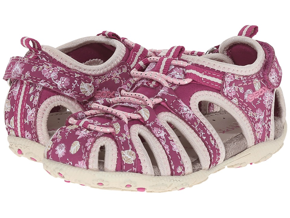 Geox Kids - Jr Roxanne 38 (Toddler/Little Kid) (Fuchsia/Light Beige) Girl