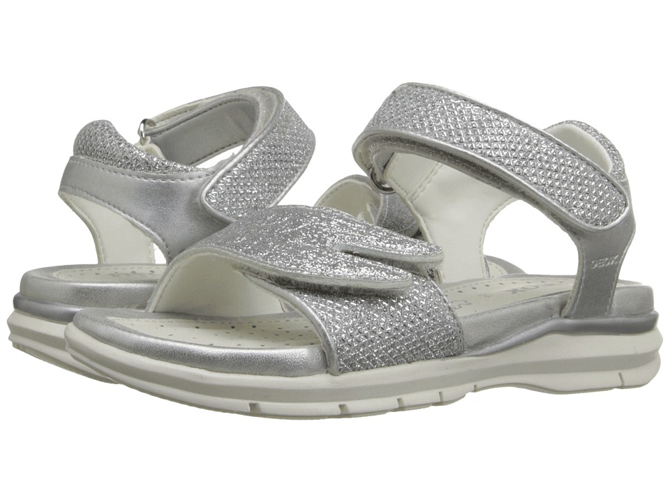 Geox Kids - Jr Sandal Sukie Girl 1 (Toddler/Little Kid) (Silver) Girl