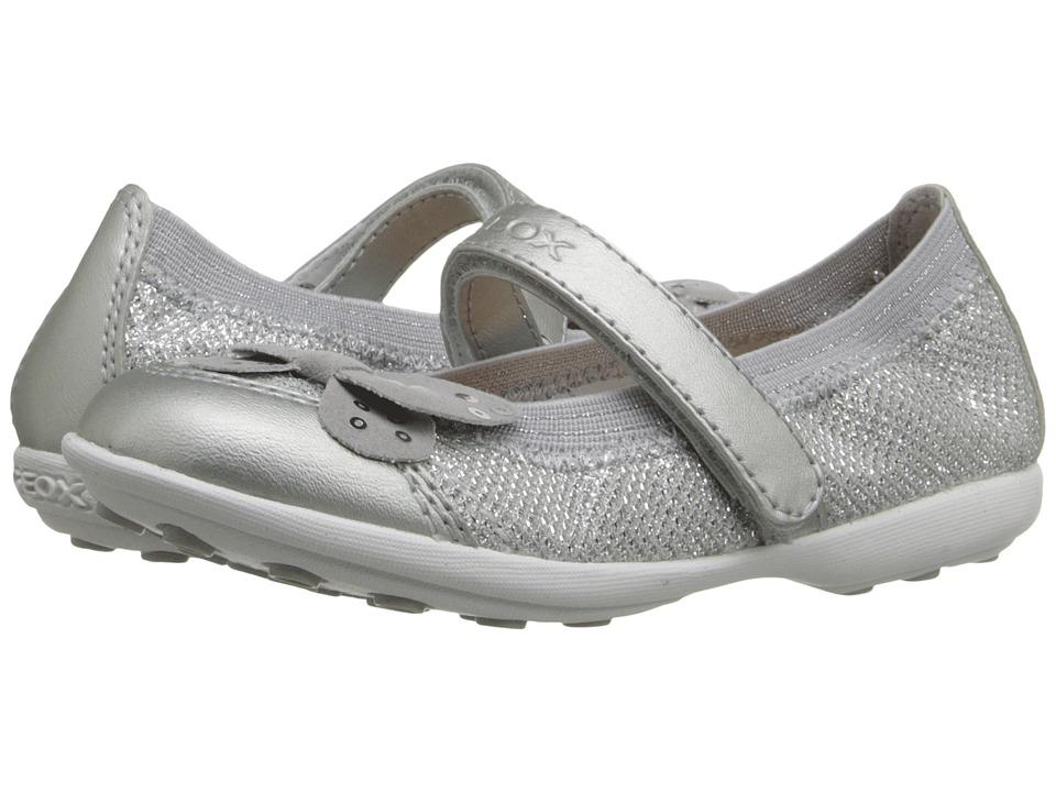 Geox Kids - Jr Jodie 74 (Toddler/Little Kid) (Silver) Girl