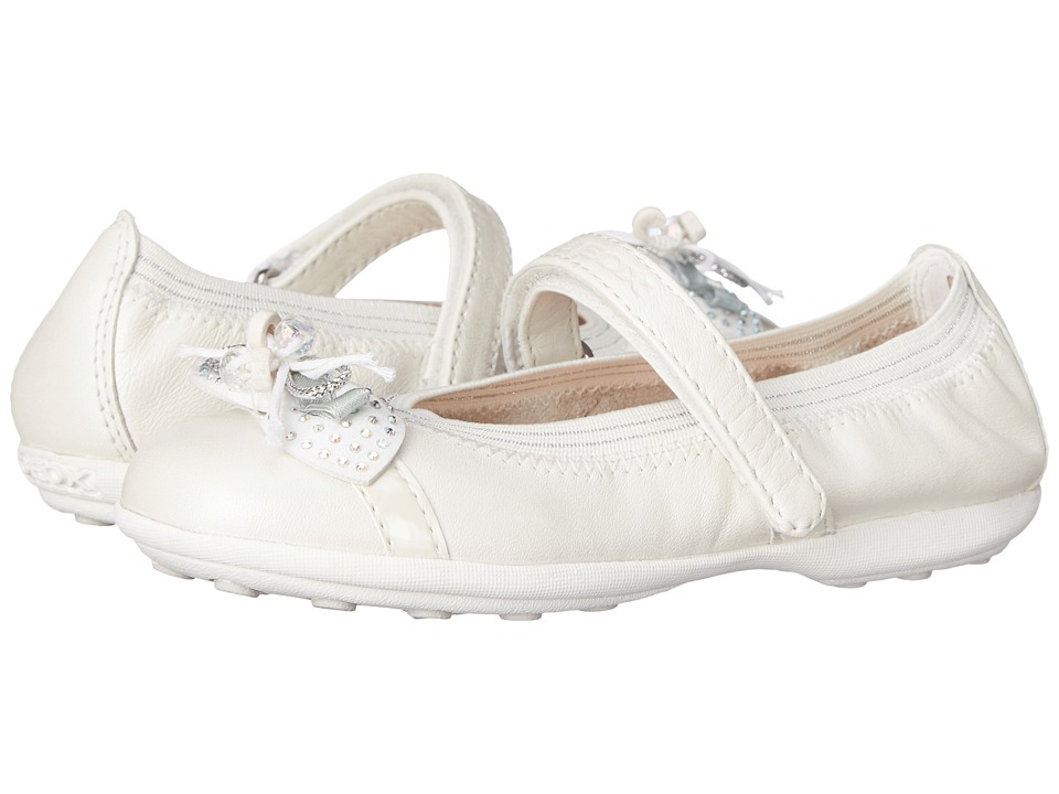 Geox Kids - Jr Jodie 73 (Toddler/Little Kid) (Off White) Girl's Shoes