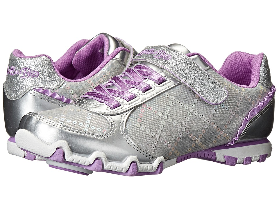 SKECHERS KIDS - Bella Ballerina-Prima 82057L (Little Kid/Big Kid) (Silver/Lavendar) Girls Shoes