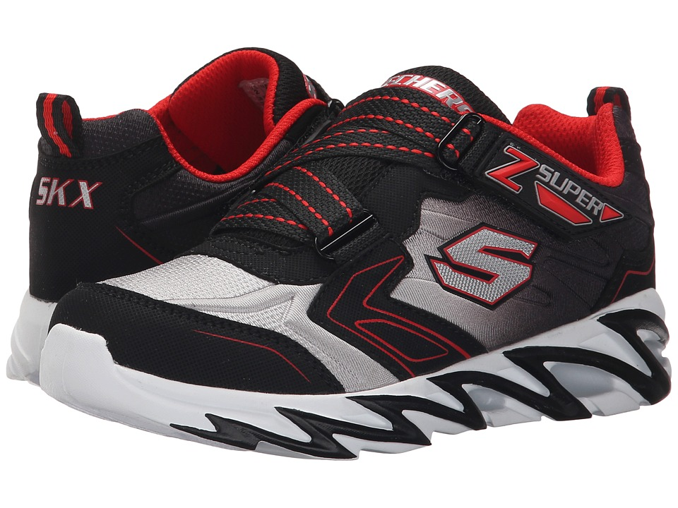 SKECHERS KIDS - Fast Volt 95955L (Little Kid) (Black/Red) Boy's Shoes