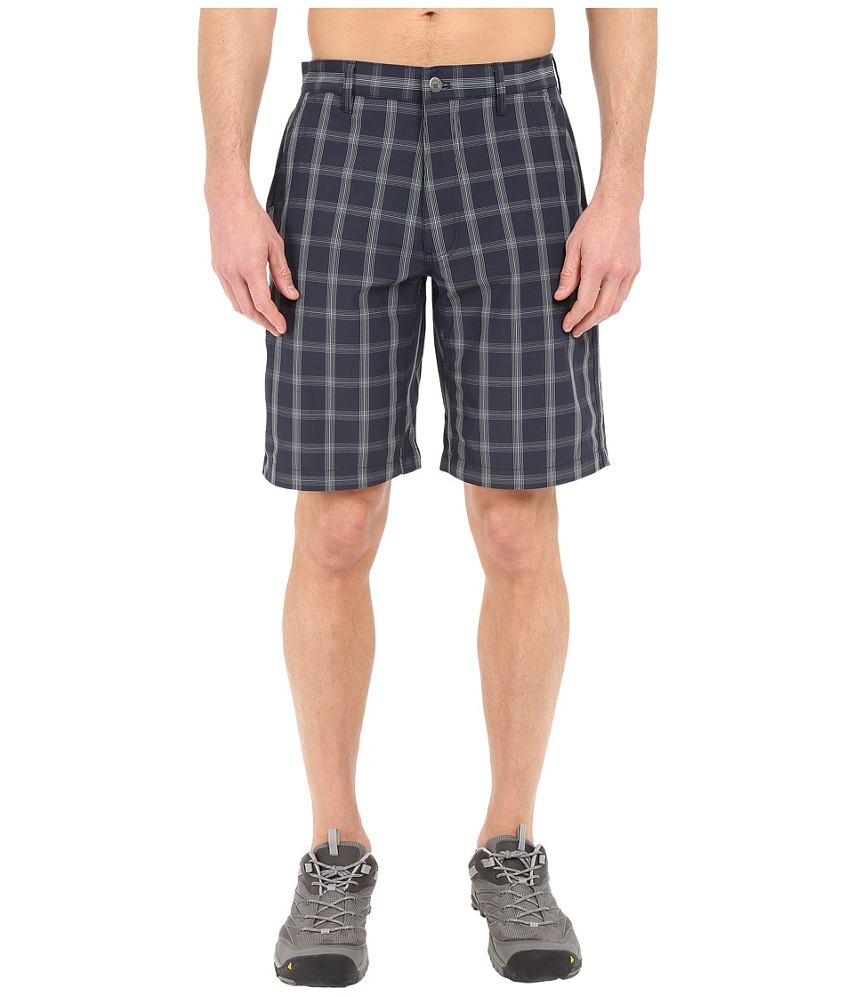 Mountain Khakis - Mulligan Shorts (Navy Plaid) Men's Shorts