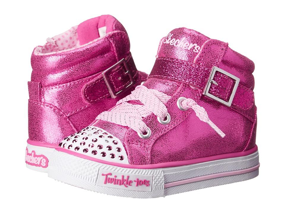SKECHERS KIDS - Heart Sole 10405N Lights (Toddler) (Hot Pink) Girl's Shoes
