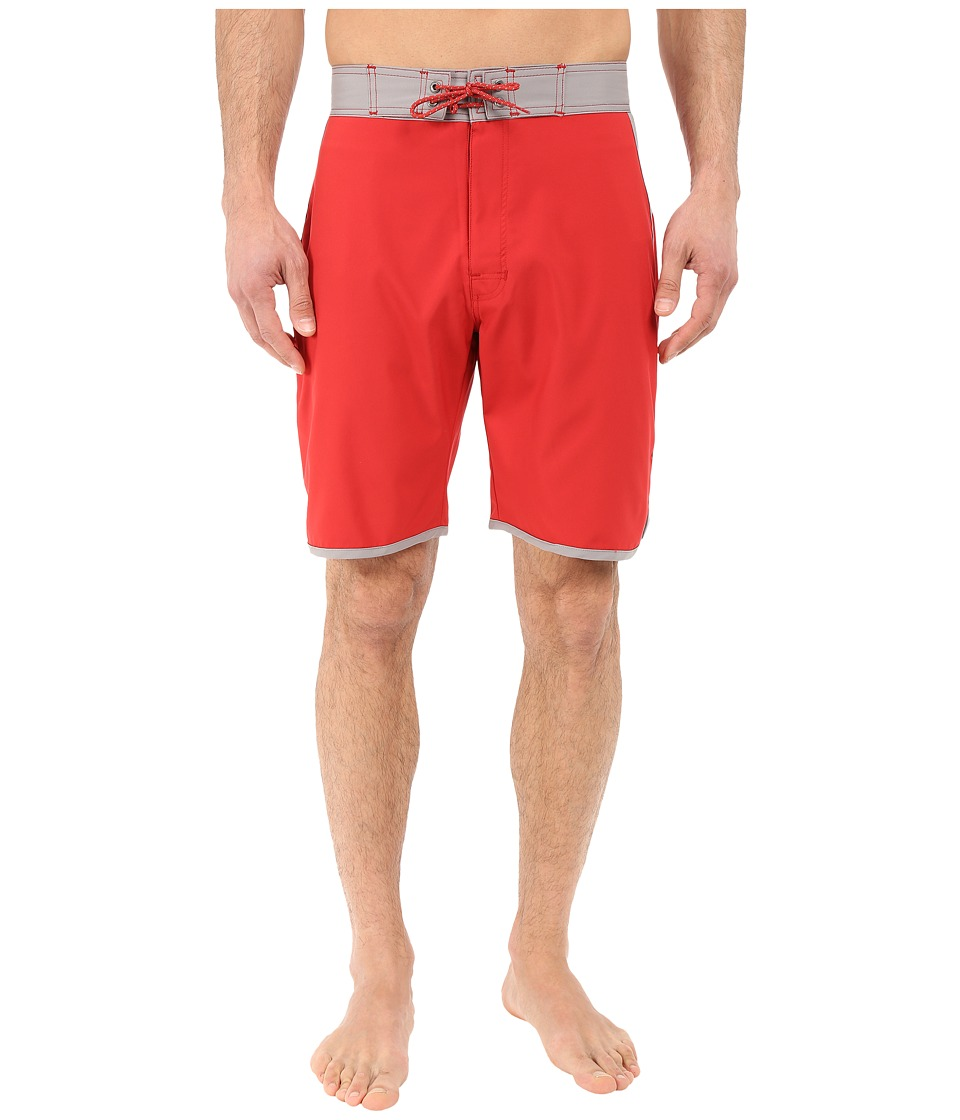 Mountain Khakis - Shifter Boardshorts (Engine Red) Men's Swimwear