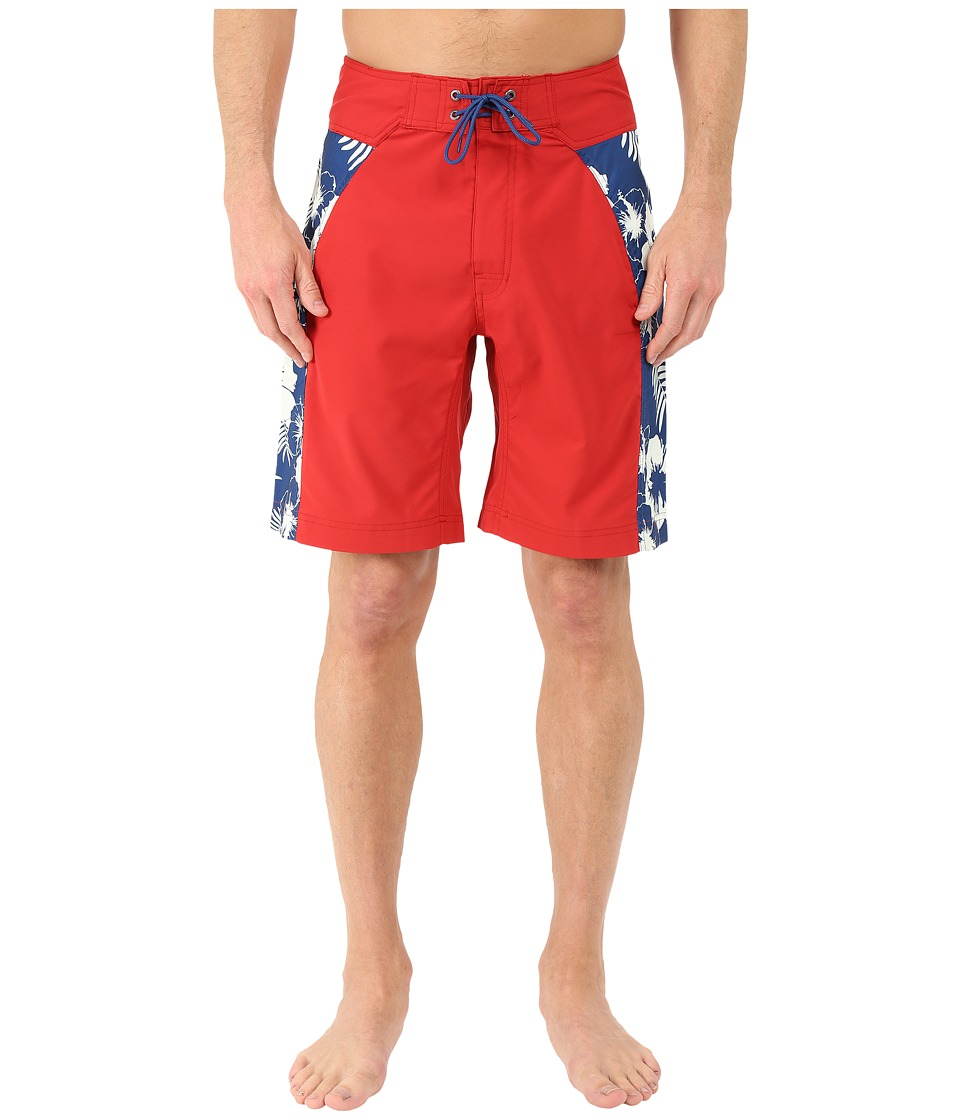 Mountain Khakis - Surfs Up Boardshorts (Engine Red) Men's Swimwear