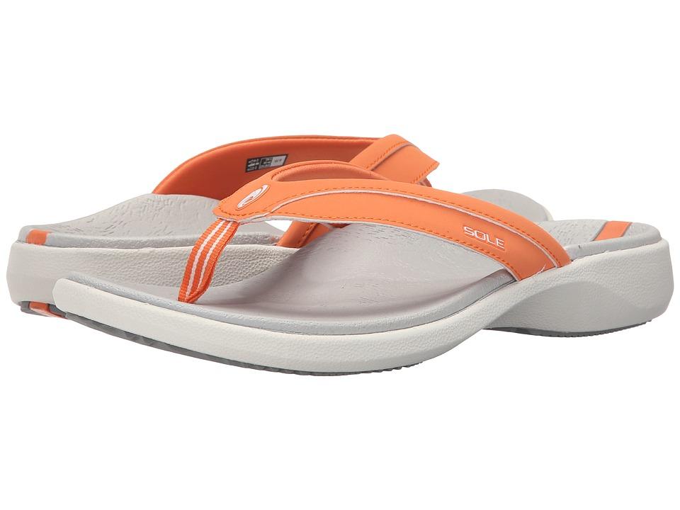 SOLE - Sport Flips (Coral) Women's Sandals