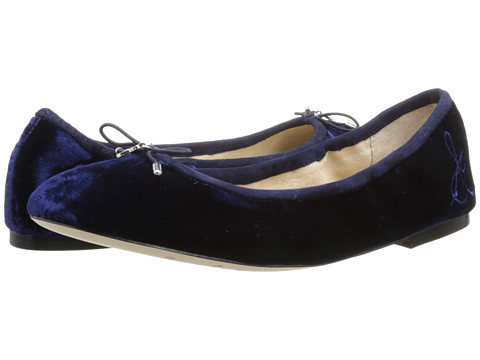 Sam Edelman - Felicia (Space Blue Silk Velvet) Women's Flat Shoes