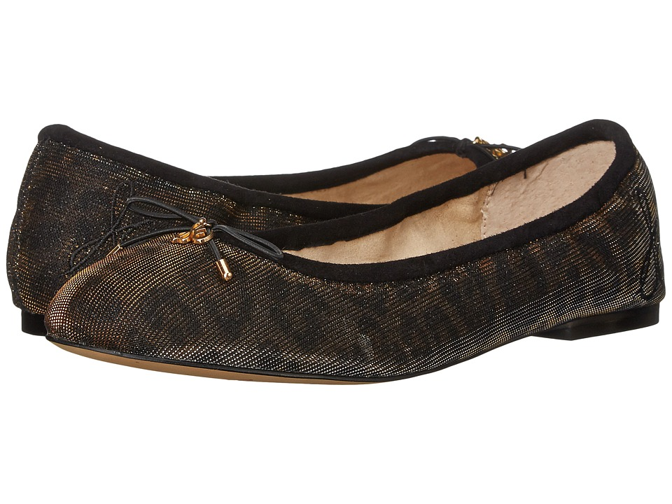 Sam Edelman - Felicia (Bronze Shimmer Leopard Fabric) Women's Flat Shoes