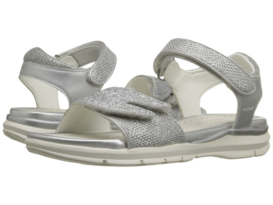 Geox Kids - Jr Sandal Sukie Girl 1 (Little Kid/Big Kid) (Silver) Girls Shoes