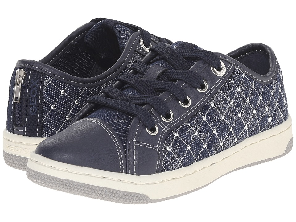 Geox Kids - Jr Creamy 35 (Little Kid/Big Kid) (Navy) Girl's Shoes