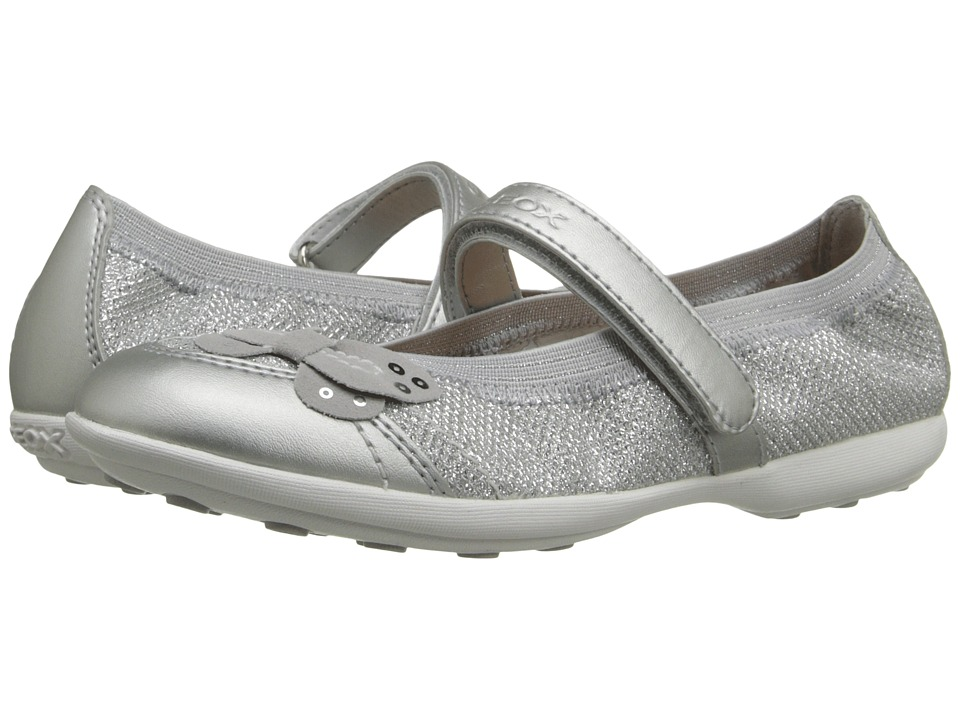 Geox Kids - Jr Jodie 74 (Little Kid/Big Kid) (Silver) Girls Shoes