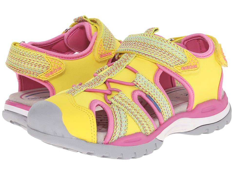 Geox Kids - Jr Borealis Girl 2 (Little Kid/Big Kid) (Yellow) Girls Shoes