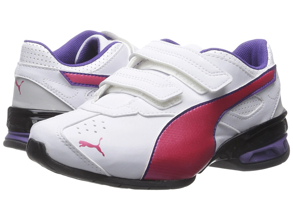 Puma Kids - Tazon 6 SL (Toddler/Little Kid/Big Kid) (White/Rose Red/Prism Violet) Girls Shoes