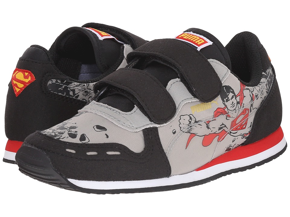 Puma Kids Cabana Racer Superman V (Toddler/Little Kid/Big Kid) (Black/Limestone Gray) Kids Shoes
