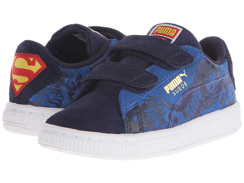 Puma Kids - Suede Superman 2 V (Toddler/Little Kid/Big Kid) (Peacoat/Princess Blue) Kids Shoes