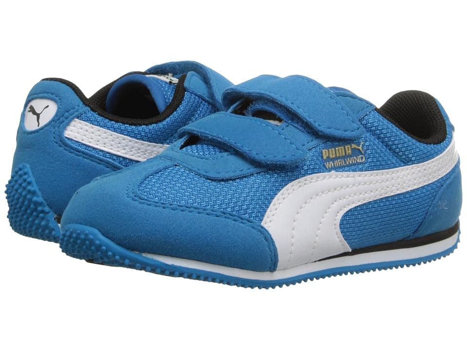 Puma Kids - Whirlwind Mesh V (Toddler/Little Kid/Big Kid) (Blue Jewel/White) Kids Shoes