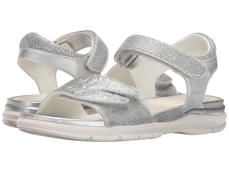 Geox Kids - Jr Sandal Sukie Girl 1 (Big Kid) (Silver) Girls Shoes