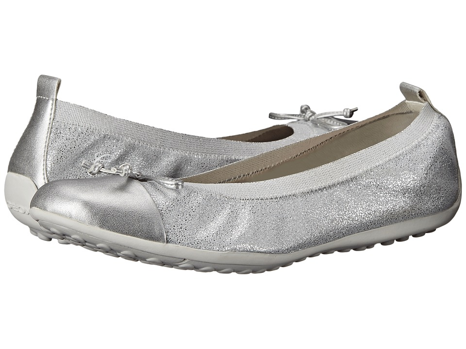 Geox Kids - Jr Piuma 48 (Big Kid) (Silver) Girl's Shoes