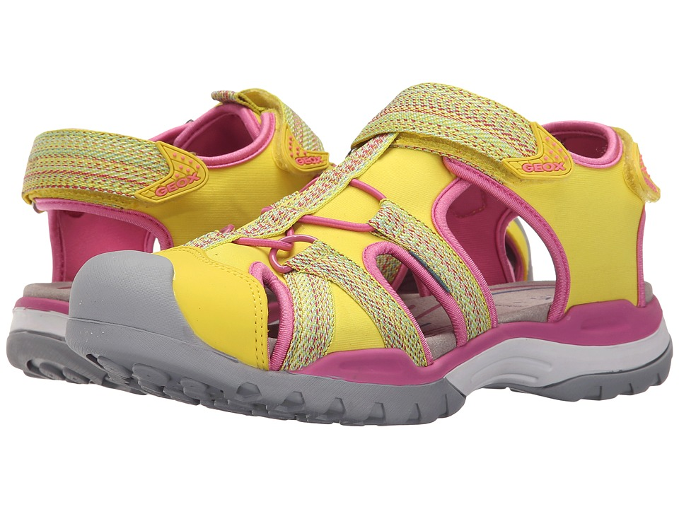 Geox Kids - Jr Borealis Girl 2 (Big Kid) (Yellow) Girls Shoes