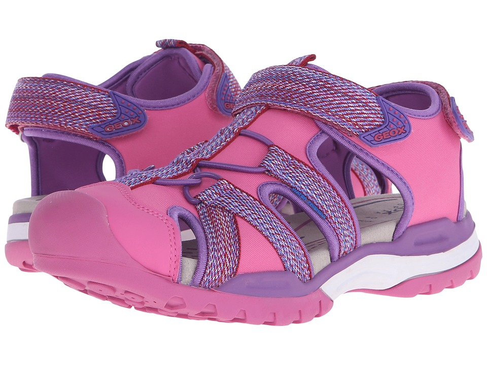 Geox Kids - Jr Borealis Girl 2 (Big Kid) (Fuchsia) Girls Shoes