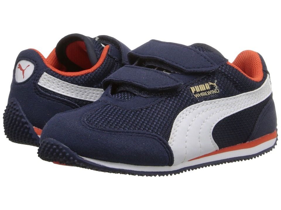 Puma Kids - Whirlwind Mesh V (Toddler/Little Kid/Big Kid) (Peacoat/White) Boys Shoes