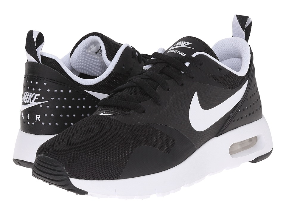 Nike Kids - Air Max Tavas GS (Big Kid) (Black/White) Boys Shoes