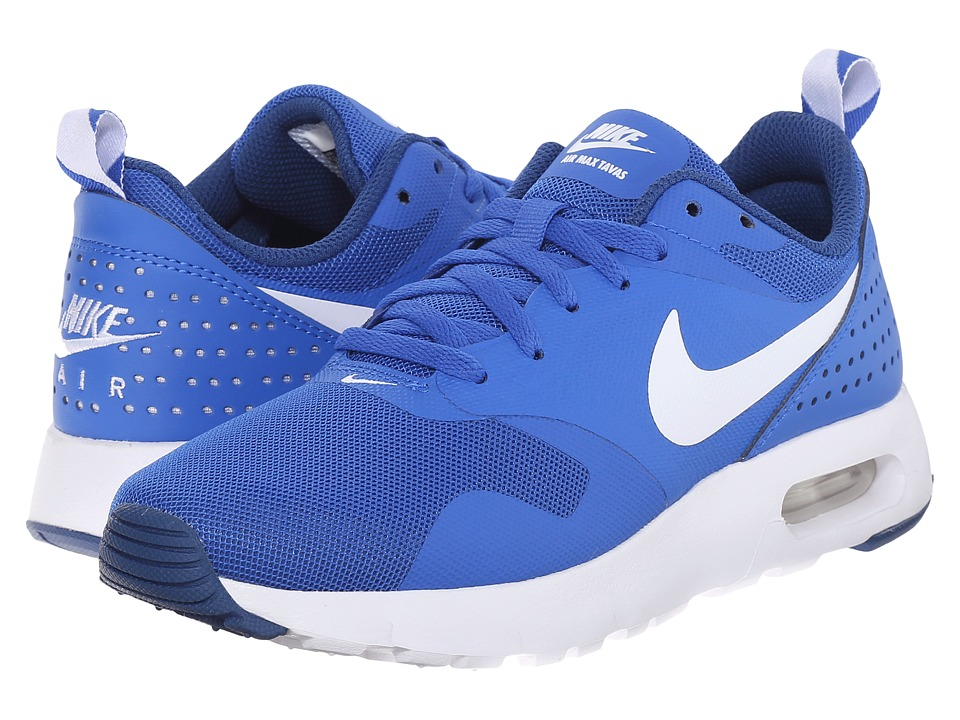 Nike Kids - Air Max Tavas GS (Big Kid) (Hyper Cobalt/Dark Royal Blue/White) Boys Shoes