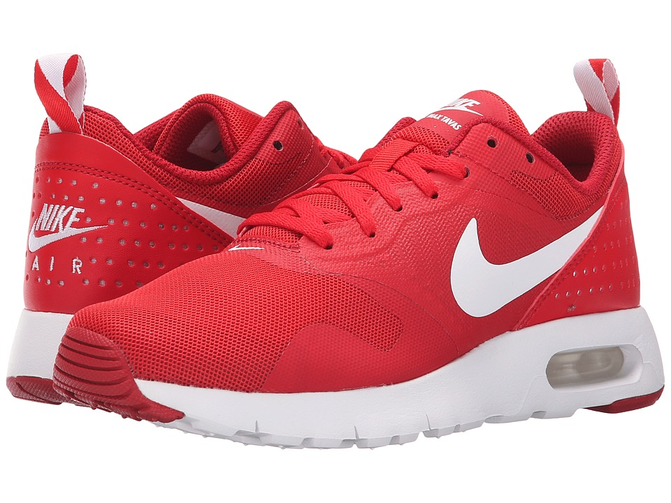 Nike Kids Air Max Tavas GS (Big Kid) (University Red/Gym Red/White) Boys Shoes