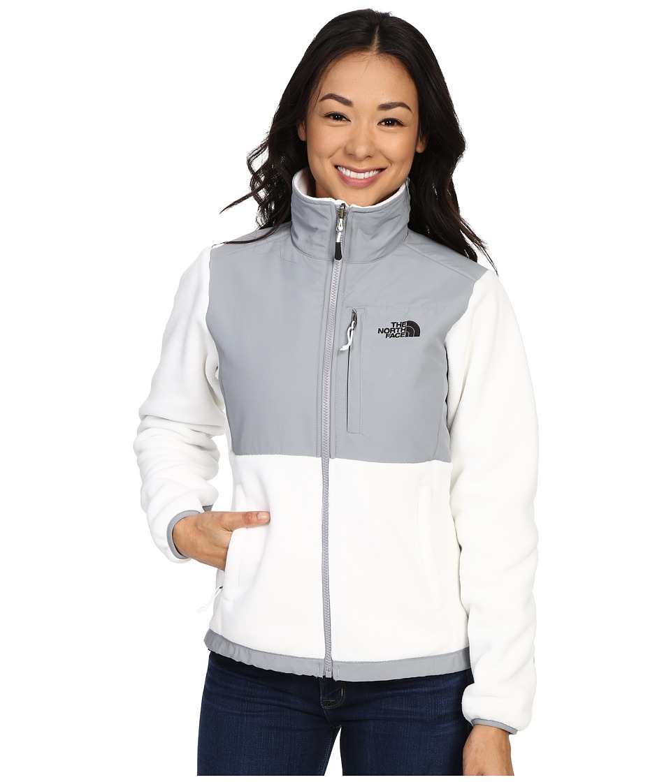 The North Face - Denali Jacket (Recycled TNF White/Mid Grey) Women's Coat