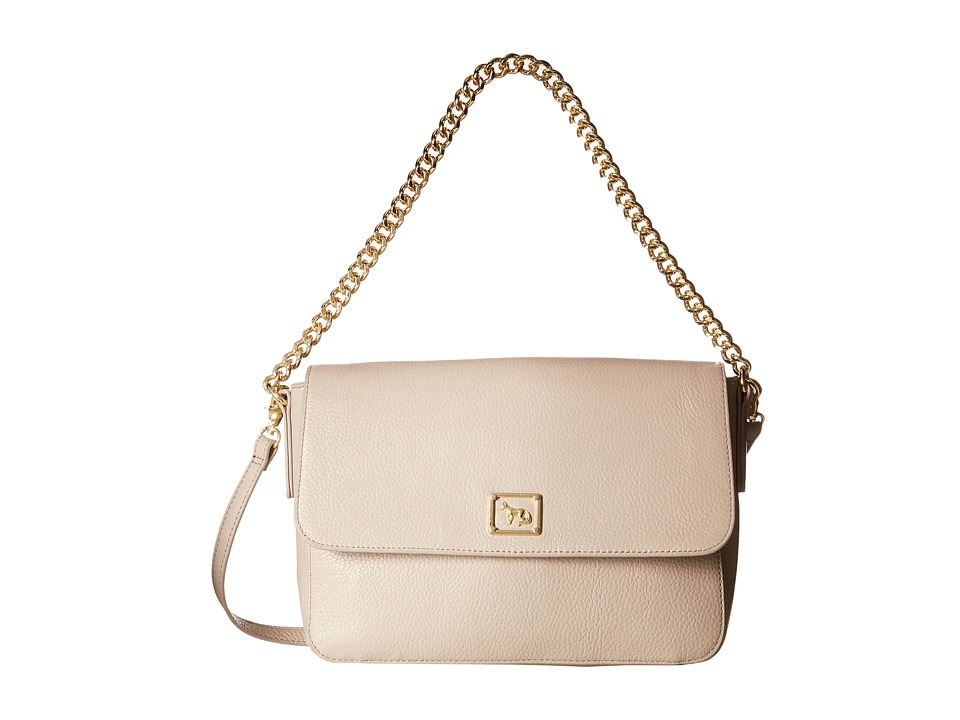 Emma Fox - Dales Pebble Chain Flap (Pebble) Handbags