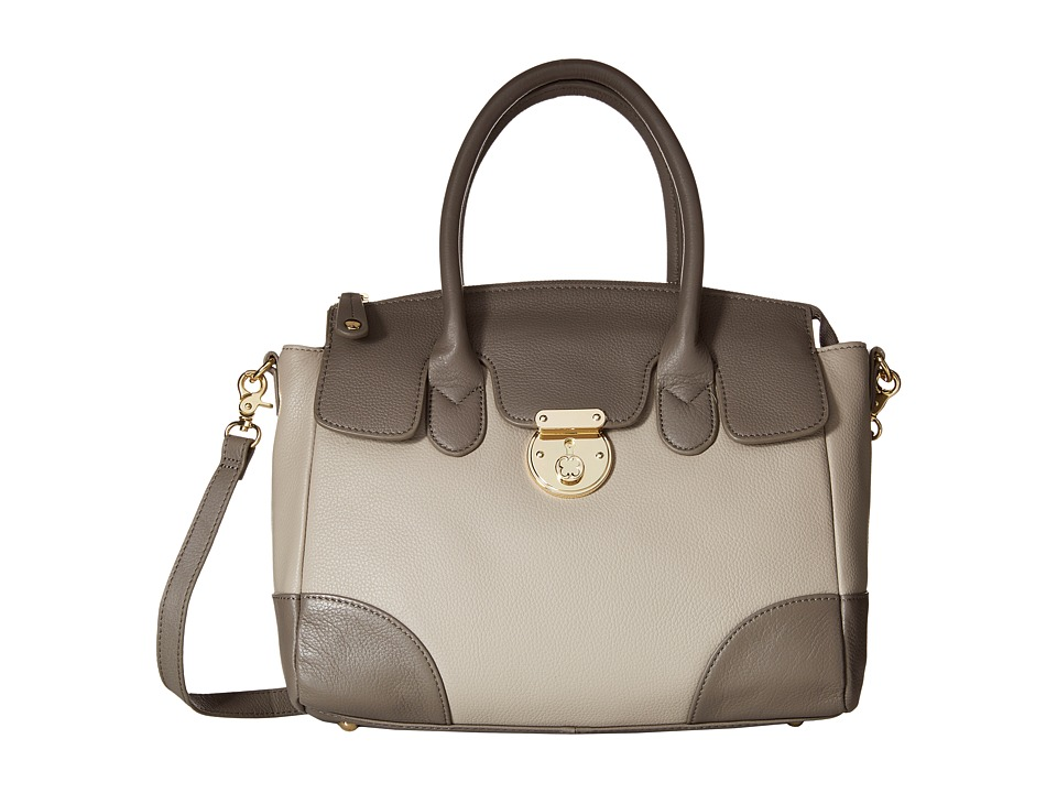 Emma Fox - Rochemont Medium Satchel (Pebble/Mushroom) Satchel Handbags