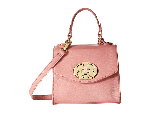 Emma Fox - Sella Small Flap Crossbody (Rose) Cross Body Handbags