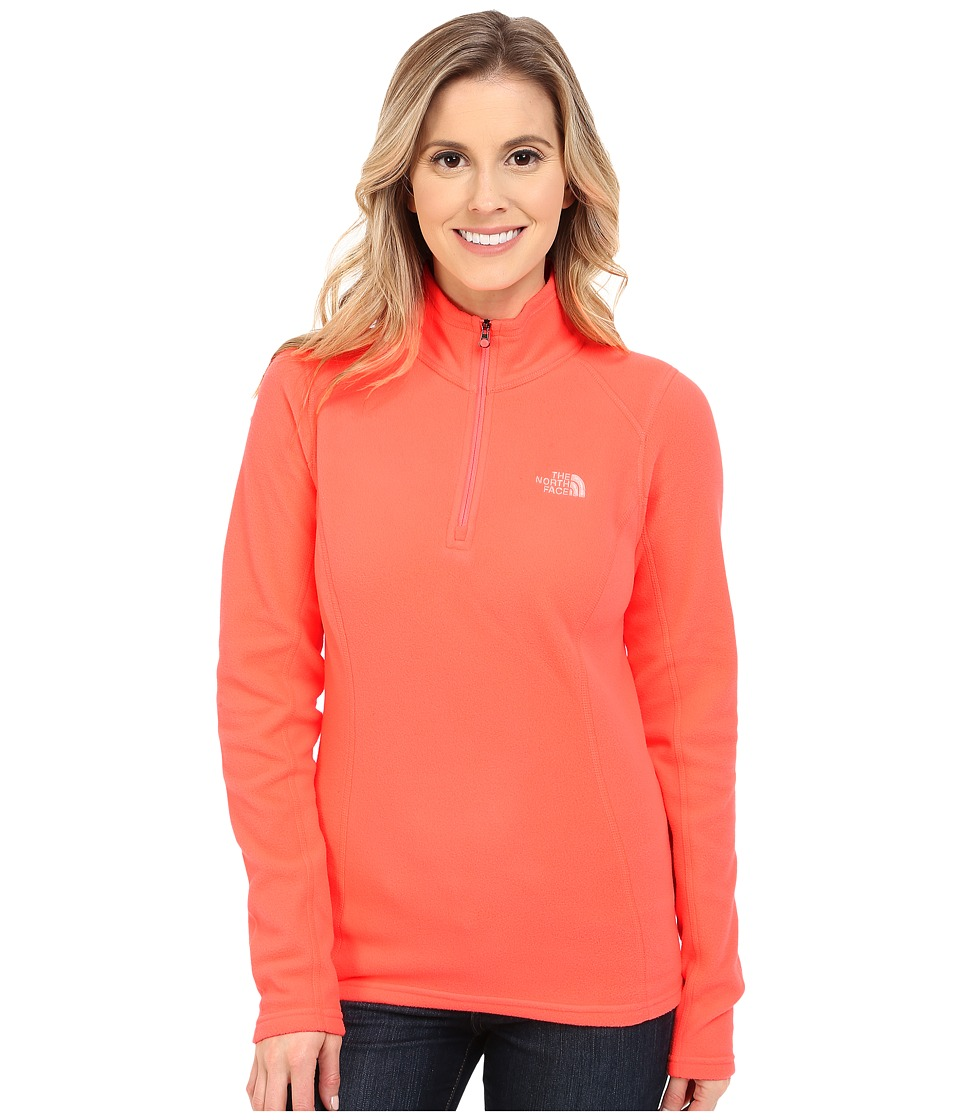 The North Face - Glacier 1/4 Zip (Neon Peach) Women's Sweatshirt