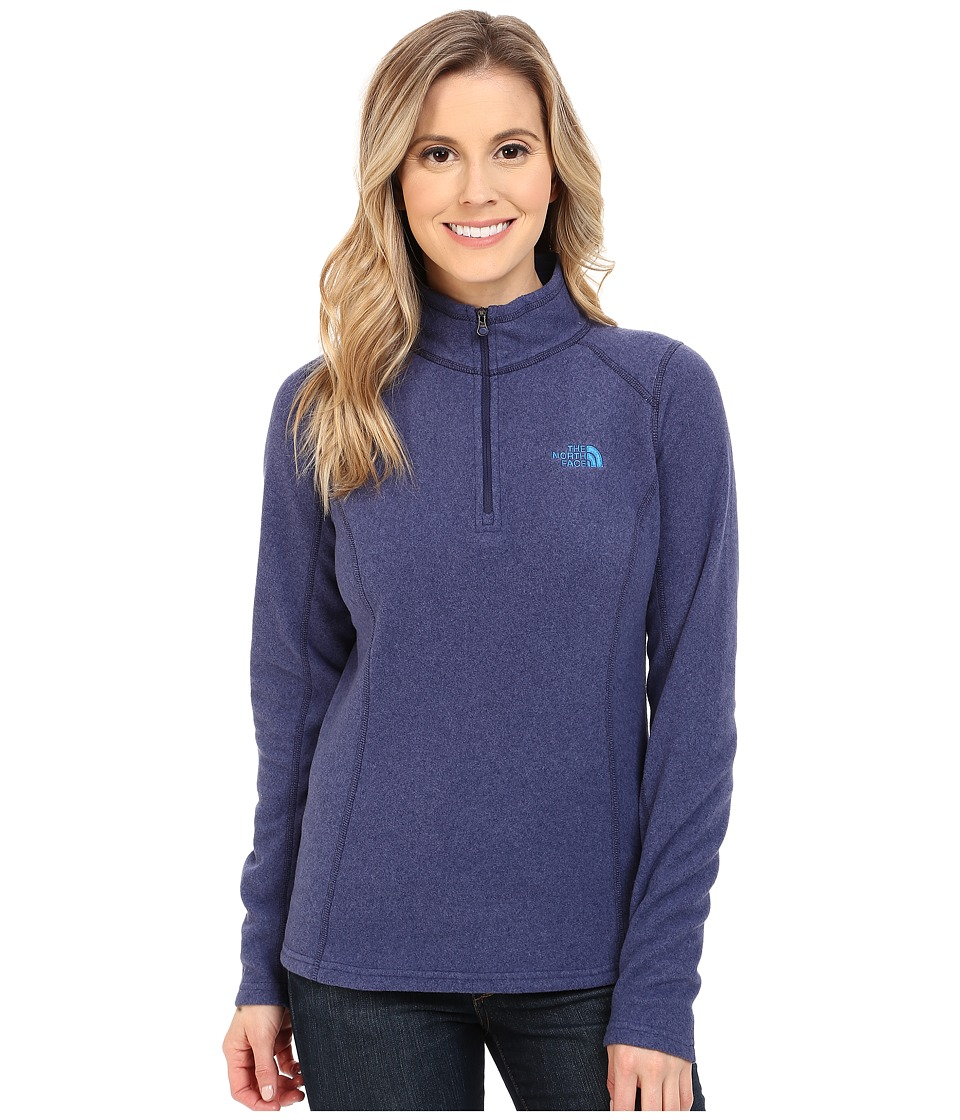 The North Face - Glacier 1/4 Zip (Patriot Blue Heather) Women's Sweatshirt